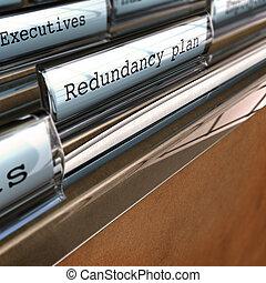 plan, redundancia, co, reestructuración