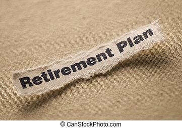 plan, retraite