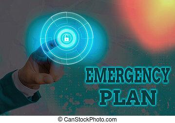 plan., situations., schreibende, bedeutung, verfahren, handschrift, behandlung, text, oder, plötzlich, unerwartet, notfall, begriff