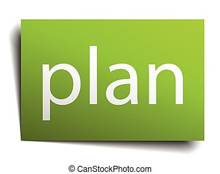 plan square paper sign isolated on white