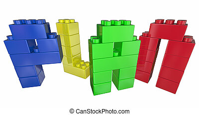 Plan Strategy Tactics Vision Building Blocks 3d Illustration