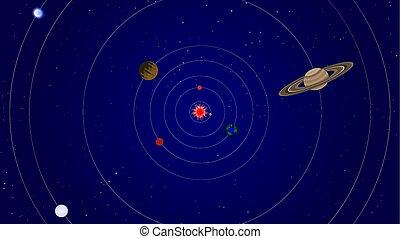 plan, système, solaire