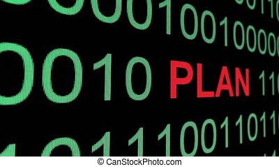 Plan text over binary data