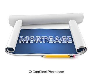 plan, texte, hypothèque