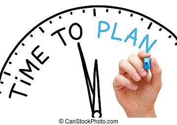 plan, tijd