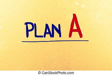 plan, un, concepto