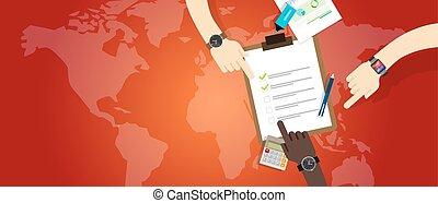 plan, urgence, préparation, équipe gestion, coopération, travail