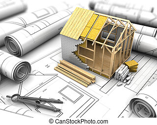 plan, woning, ontwerp