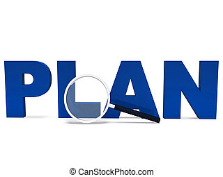Plan Word Shows Plans Planned Planning And Aims - Plan Word...