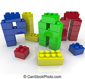 Plan Word Toy Building Blocks Building Strategy - The word...