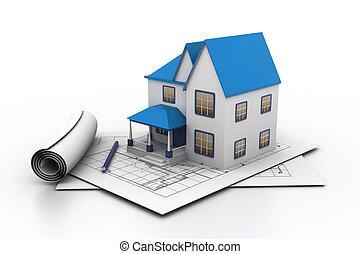 plan, wzór, dom