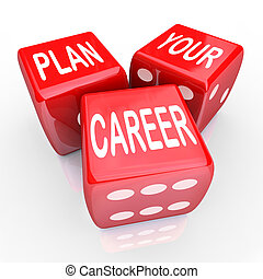 Plan Your Career Dice Gamble Future Opportunity - Plan Your...