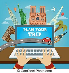 Plan your Trip. Travel Banner. Time to Travel. Vacation Planning. Travel Industry. Modern Travel Technologies. Booking Hotel