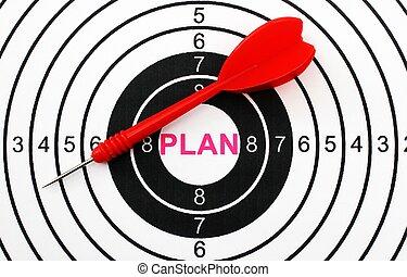 plan, ziel