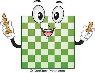 planche, échecs, mascotte