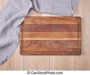 planche, bois, vieux, vide, cuisine, découpage