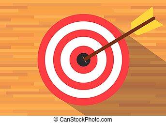 planche, buts, bullseye, cible
