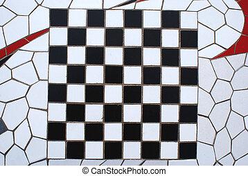 planche, chesss, mosaïque