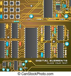 planche, circuit, micro-processeurs
