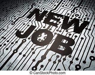 planche, concept:, métier, nouveau, circuit, business