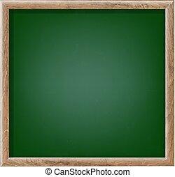 planche, craie, vert