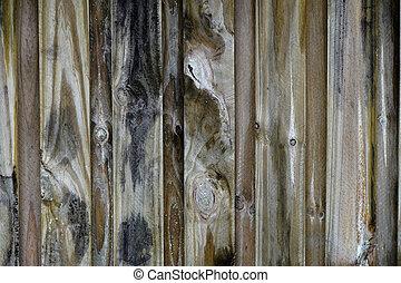 planche, division, bois, vieilli, barrière, arrière-cour