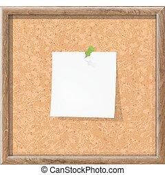 planche, noter papier, bouchon, vide