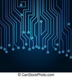 planche, numérique, bleu, vecteur, high-tech, circuit, gabarit, fond