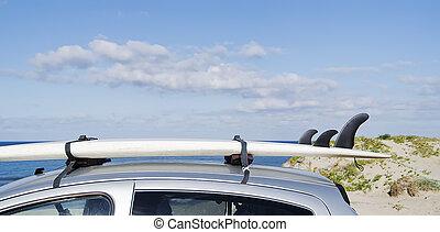 planche surf, toit