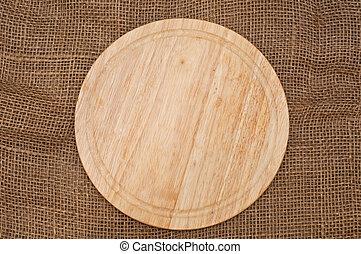 planche, table, découpage, bois