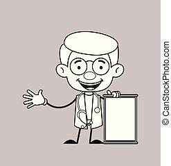 planche, -, vide, joyeusement, gynécologue, docteur,...