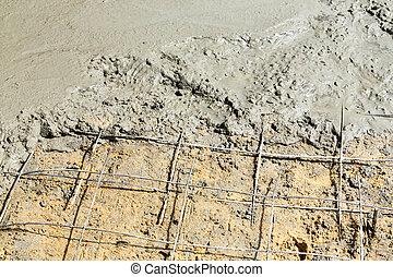 plancher béton, verser
