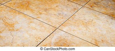plancher carrelé