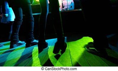 plancher danse, gens, jeune, danse