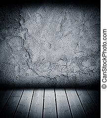 plancher, mur, béton, bois, fond, textured