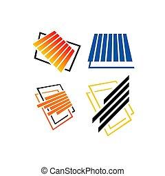 plancher, vecteur, carreau, illustrations, parquet, logo, conception, laminate