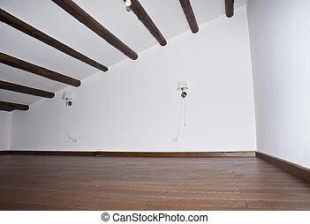 planchers bois dur, salle