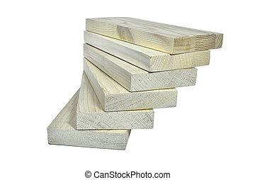 planches, bâtiment, eco-amical, bois, -, matériel, tas