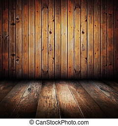 planches, bois, jaune, vendange, intérieur