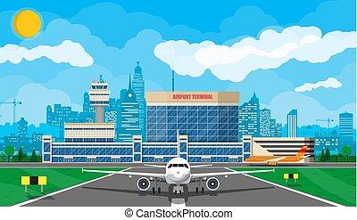 plane before takeoff