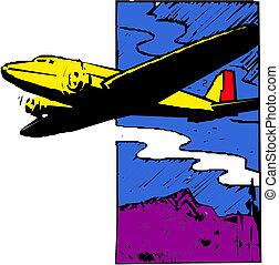 Plane cartoon