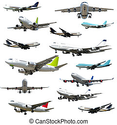 Plane collection. High resolution - Collection with many ...