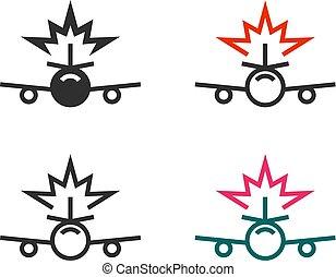 Plane crash icons