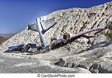 Plane Crash in the hill side - Crashed plane in the side of...