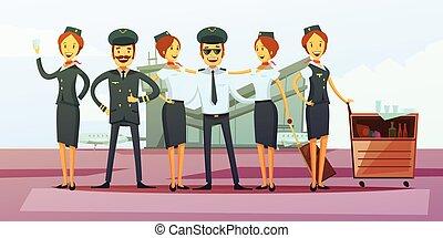 Plane Crew Background
