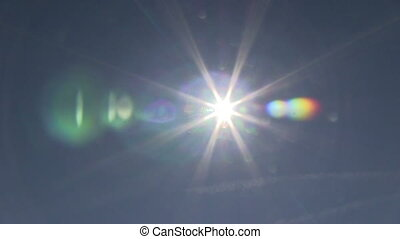 Plane crossing sun view - This is some high quality footage...