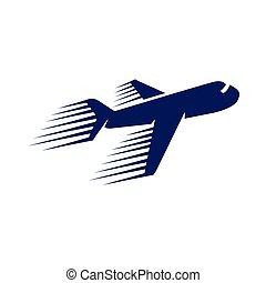 plane fast logo icon vector