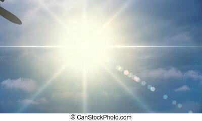 Plane Flies Through the Sun