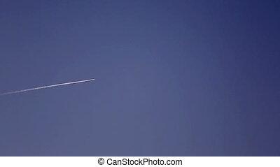 Plane flying.