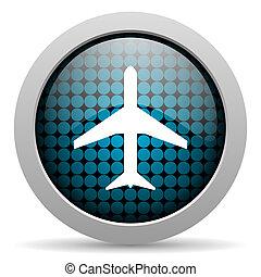 plane glossy icon